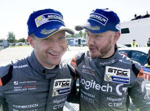 Robert Dahlgren och Daniel Haglöf startar båda under STCC–premiären på Ring Knutstorp. Foto: Jonas Dagson/TT