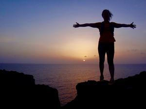 Ett annat äventyr var traillöpning i Costa Teguise soluppgång.