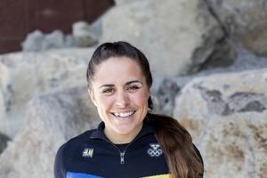 Anna Haag slutade 29:a, 1.14,6 efter segrande Marit Björgen. Foto: Christine Olsson/TT