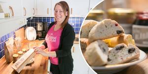 Jenny Andersen Salomonsson i Sorunda startade sitt företag 2014. I dag säljer hon biscotti, skorpor och marmelader över hela Sverige.