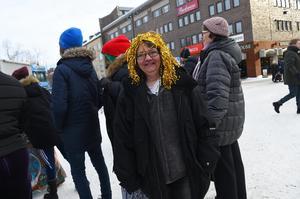 Maria Jönsson  hade åkt från Järpen för att se Melodifestivalen.