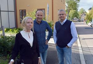 Marika Bladin, fastighetsförvaltare Regionfastigheter Dalarna, David Karlsson, projektledare Regionfastigheter Dalarna, och Per Lindberg, fastighetsansvarig folktandvården, ser fram emot klinikernas flytt i Borlänge.