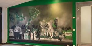 Tifobilden inne på Solid Park Arena.