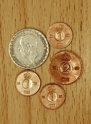 En krona och fem öre – fortfarande pengar, åtminstone i Gagnef.