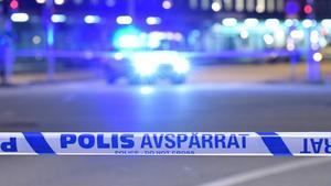Polisavspärrning. Foto: TT