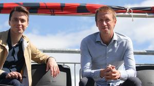 Kyle Macaulay tillsammans med Graham Potter. Deras täta arbete fortsätter idag i Swansea.