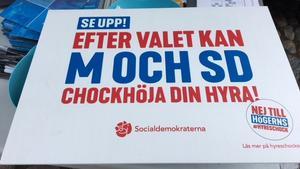 Socialdemokraternas valbudskap upprör Moderaterna. Kampanjen är