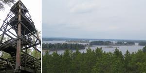 Skekarsbotornet ligger 97 meter över havet och klara dagar kan man se långt.