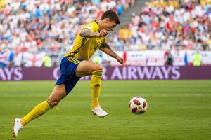 Victor Nilsson Lindelöf startade i Sverige VM-match mot England. Bild: Joel Marklund/Bildbyrån