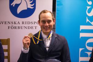 En glad Viktor Melin hade segerförhoppningar inför SM-tävlingen i Södertälje.