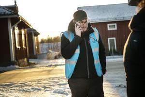 Insatsledaren Sebastian Lindström hade åkt från Orsa för att leda sökinsatsen i Ljusne utanför Söderhamn.