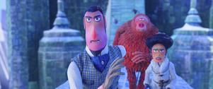 Äventyraren Frost tar sig till Himalaya med sitt fynd herr Länk och en gammal flamma, Adelina i
