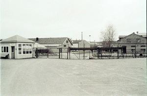 Lokstallarna i Bollnäs 1979. Bild: Tord Ehnberg