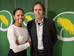 Kultur- och demokratiministern Alice Bah Kuhnke och Pär Holmgren, tidigare tv-meteorolog står främst på Miljöpartiets lista till nästa års Europaparlamentsval.