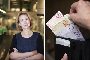 Carina Mood, professor vid Stockholms universitet har forskat kring hur inkomstskillnader påverkar levnadsnivån i stort. Foton: Pressbild och TT