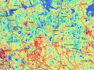 Höga halter av gammastrålning av uran har uppmätts i Salbohed, Sala, Saladamm och Heby. Men risker finns också i Tärnsjö och Runhällen, där marken består av åsar som släpper igenom mycket.Karta: SGU