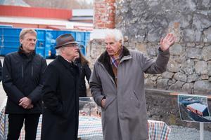 Anders Wall berättade för bland annat kungen om om Morgongåva Företagspark.