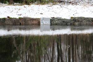 Än är inte maxnivån nådd för hur hög Tisarens yta får ligga enligt vattendomen. Mätstickan vid Masugnsdammen markerar 100,30 meter över havet och till den nivån saknas fortfarande någon decimeter.