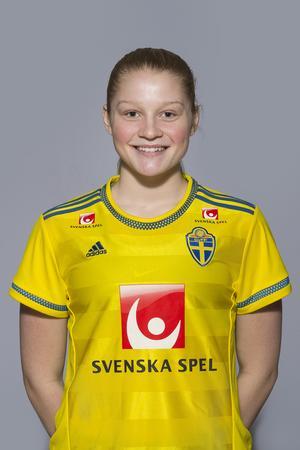 Klara Folkesson har flera flicklandskamper på meritlistan. Foto: Bildbyrån