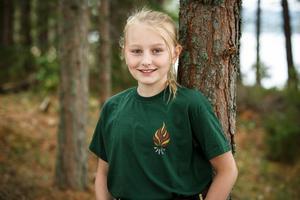 Emmylo Lundberg är med i Wild kids, som har säsongspremiär i kväll. Foto: Johan Paulin/SVT