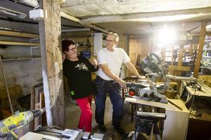 Nästa projekt ligger i källaren, där Bo bygger sitt hobbyrum.