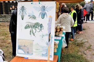Örebro biodlarförening visade upp sin verksamhet och sålde honung.