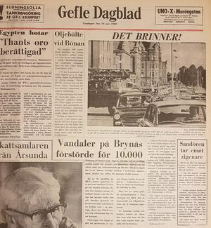På 100-årsdagen för branden uppmärksammade Gefle Dagblad en räddningstjänstorganisation i förändring.