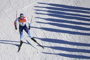 Dario Cologna vann Engadin Ski Marathon, den första skatetävlingen någonsin i Visma Ski Classics. Foto: Gian Ehrenzeller/Keystone/AP