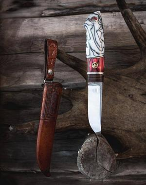 VM i knivtillverkning, alltså Västramästerskapen, är ett av inslagen på Jakt- och fiskemässan. Foto: Privat