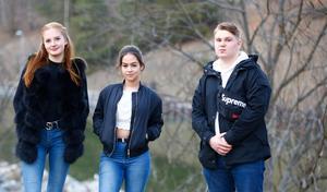 Sara, My och Mateus blev nyligen ungdomsvolontärer hos Juventas ungdomsjour efter att organisationen gjort ett besök på deras skola.