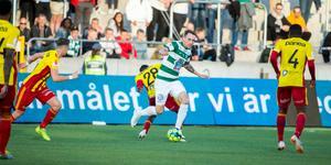 Filip Tronet under en match på Solid Park Arena under förra säsongen.