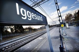 Järnvägsstationen i Iggesund.