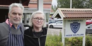 Per och Monica Hägerstrand blev det fjärde exemplet i rad på krögare som drivit golfkrogen i Hagge en enda säsong.