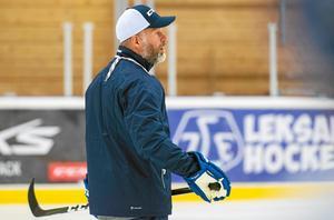 Markus Åkerblom under ett träningspass under tiden i Leksand.