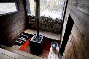 Linda och Pekka Seitolas skogssauna på Norrlandet är nominerad till Träpriset 2012.