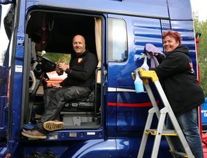 Bästa lastbilsträffen i hela Sverige tycker Stefan Norman och Lotta Larsson från Stockholm om den i Ramsele.
