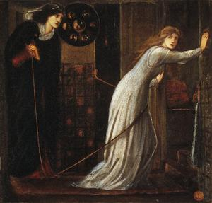 Edward Burne-Jones, Fair Rosamund and Queen Eleanor, 1862, © Tate, London 2019.