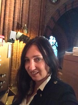 Kristina Shteman har spelat i katedraler i både Europa och USA. Foto: Privat