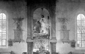 Så här såg det ut när tavlan hängde på sin ursprungliga plats, stor nog att ses från bakersta raden i den kyrka som en del vill kalla katedral.