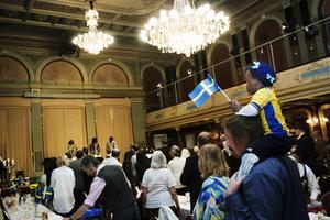 Varje nationaldag välkomnas nya svenska medborgare på Stadshuset i Sundsvall. Bilden tagen vid ett tidigare tillfälle.