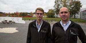 Karl Samuelsson är energiingenjör och Niklas Faltz projektledare. Närmast riktar de blickarna mot tak i Järna och Pershagen.