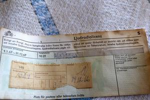 Ljudradiolicens kostade 35 kronor i december 1966.