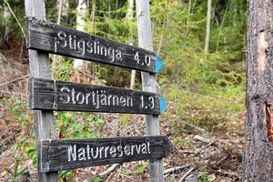 En del i Naturnära jobb är att tillverka och sätta ut nya skyltar där det behövs i naturreservaten.