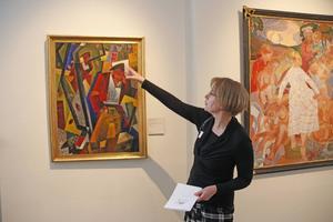 I allén, oktoberkväll av Gösta Adrian Nilsson var flera besökares favorit. Ingela Broström vill inte berätta för mycket om verken, så besökarna kan bilda egen uppfattning.