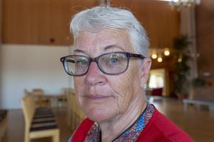 Solveig Haugen bodde tillfälligt hos sin son i Ytterhogdal medan hon var evakuerad från sitt hem i Storån.