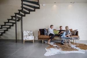 I två år byggde Martin och Pia på huset. Innan bodde de på en gammal gård i Överhörnäs.