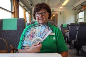 Även luftkonditioneringen varierade från tåg till tåg. För den som åker längre resor kan det bli närmast olidligt varmt, menar Carola Gunnarsson. Foto: Privat