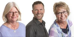 Louise Nordström, Mats Ekerbring och Caroline Burstedt är familjerådgivare hos Svenska kyrkans individ- och familjerådgivning. Foto: Ulla-Carin Ekblom