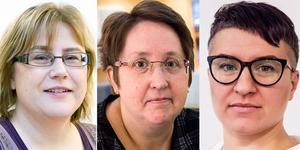 Anna-Lena Lindberg, Gruppledare (C), Annica Jonsson, Gruppledare(M)och Hanna Sydhage, Gruppledare (KD) .
