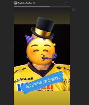Köping Hockeys instagram.
